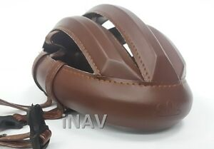 Helmet Leather Spin Vintage Cycling Brown Smooth Classic Bicycle and Handmade