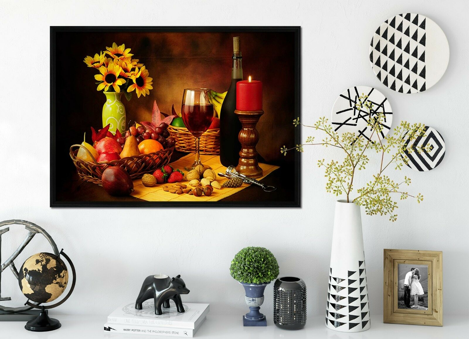 3D Candlelight Red Wine 2 Framed Poster Home Decor Print Painting Art WALLPAPER