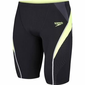 "Salón pronto impactante  Speedo Men's Fit Splice Jammer 3638"" BNWT Tight Black / yellow RRP £39 Buy  £18 5053744131351 