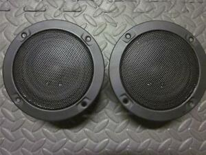 NEW-2-5-034-Woofer-Stereo-Speakers-Sealed-MidRange-Pair-8-ohm-Five-inch-w-Grill