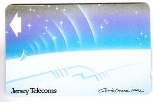 EUROPE-TELECARTE-PHONECARD-JERSEY-40U-GPT-11JER-ART-NOEL-CHRISTMAS-1992