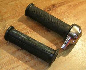 PROMO-FLASH-MANETTE-poignee-moto-cahoutchou-noir-THROTTLE-grip-vintage-22mm