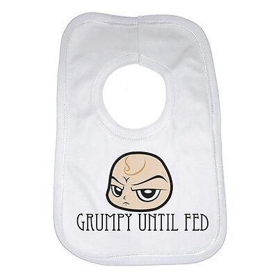 Aspirante Scontroso Fino A Quando Alimentato, Nuova Personalizzata Baby Bib-bianco-