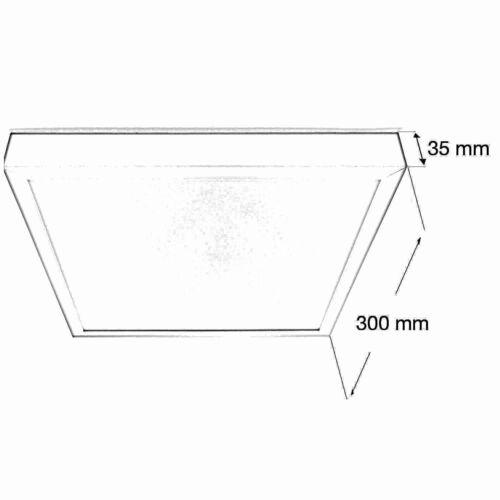 LED Aufbau Aufputz Deckenleuchte Lampe SMD Panel 6W-24W Eckig Rund Flach Neu