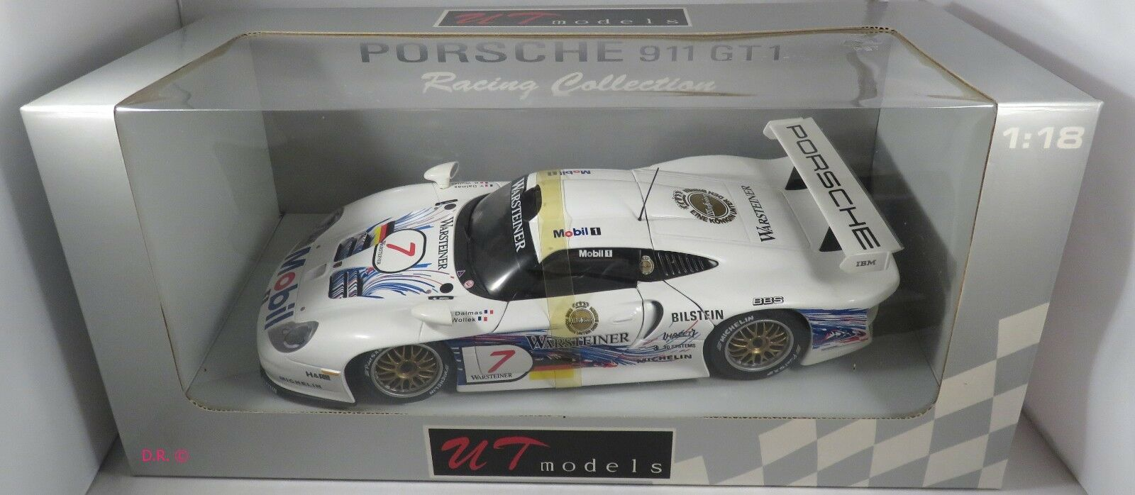 PORSCHE 911 GT1 evo Wollek Dalmas AG WARSTEINER FIA GT 1997 UT 1 18