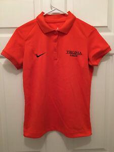 Virginia UVA Cavaliers Womens Cheerleading Team Issued Nike Polo Shirt Small
