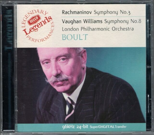 Sir Adrian BOULT: RACHMANINOV Sinfonie Nr.3 VAUGHAN WILLIAM Symphony No.8 CD