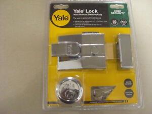NEW-CHROME-YALE-LOCK-KIT