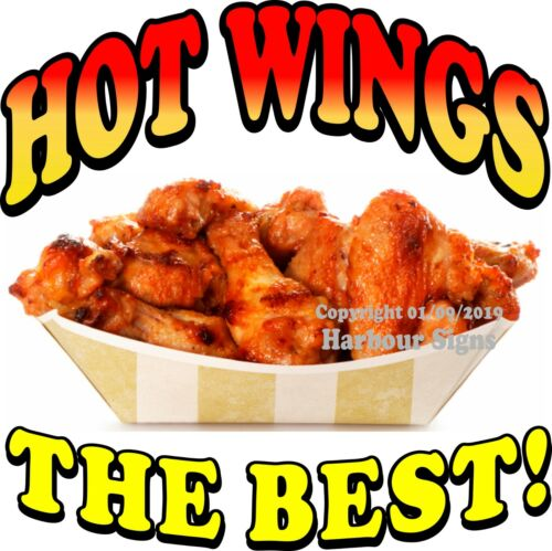 Chicken Concession Food Truck Vinyl Sticker Choose Your Size HOT WINGS DECAL