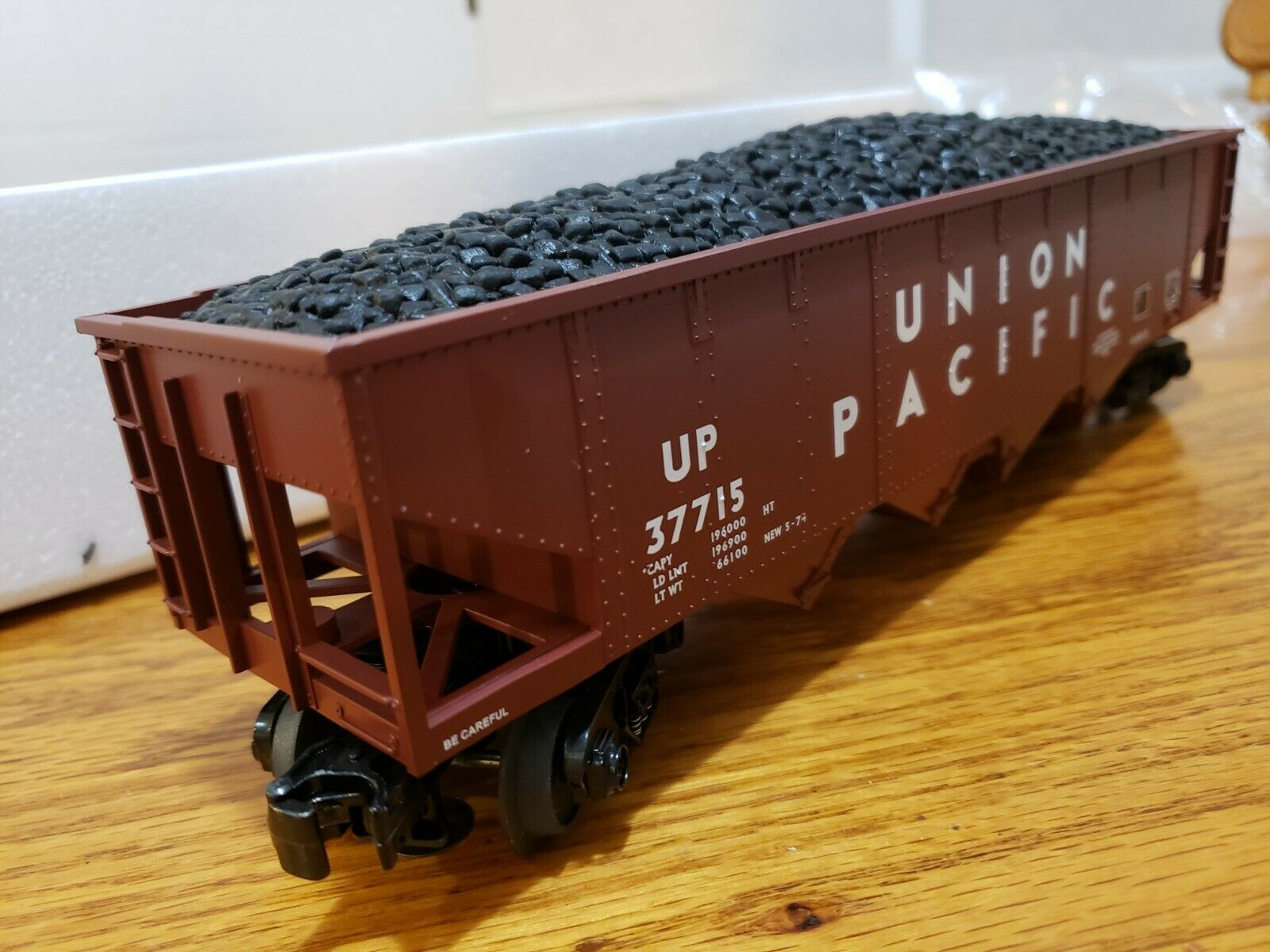 Rail King Union Pacific Hopper Car Operating Coal Load M.T.H.Train O-O27 30-7538