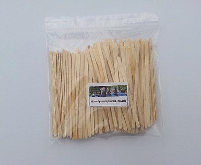"250 x Wooden Tea / Coffee Stirrers /  Craft Sticks 5.5"" long"