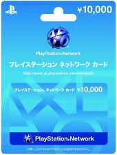 PlayStation Network Card 10000 YEN Instant Card - Japan / PSN PS4 PS3 PSVita PSP
