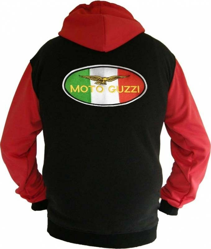 Moto Guzzi  Flag Fan Sweatshirt Kapuzenjacke Hoodie Lieferz. ca. ca. ca. 8 Tage 4537af