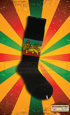 Ehrlichkeit Lion Of Judah Socks - Red Gold Green On Black Roots Rasta Reggae Online Rabatt
