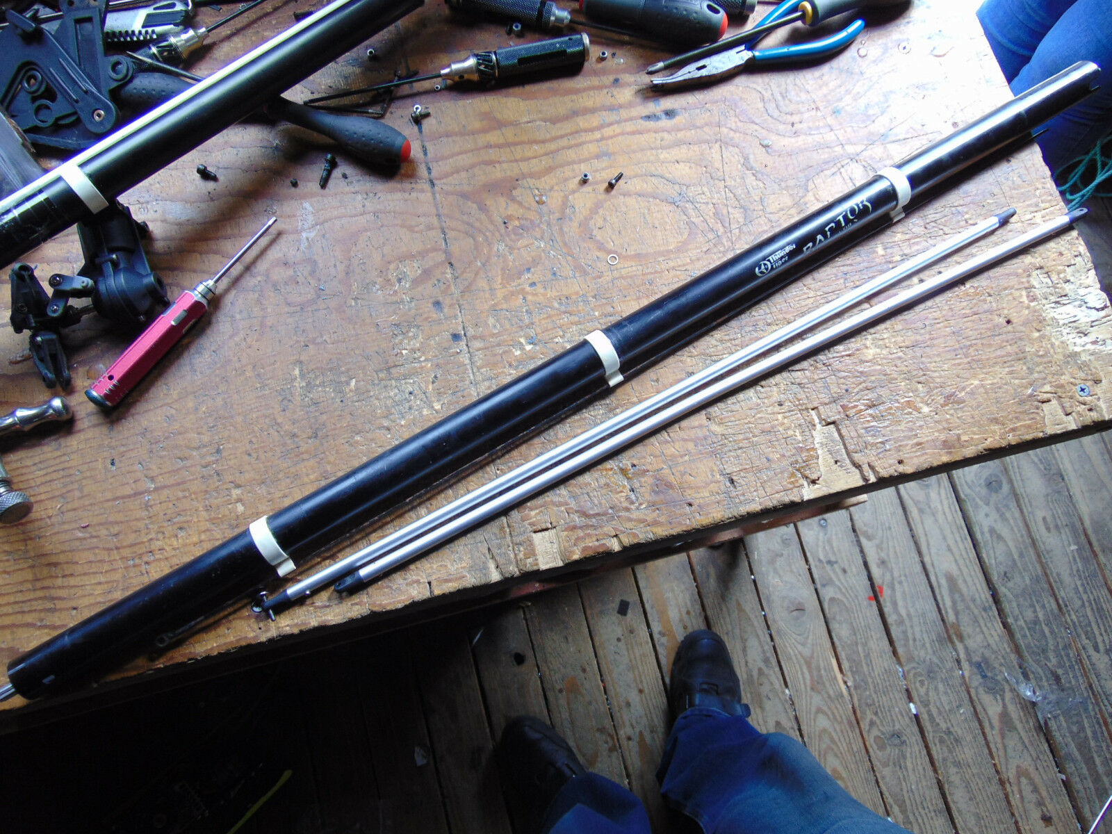 RAPTOR 60 TAIL BOOM ASSEMBLY C W TORQUE DRIVE, PITCH ROD & SUPPORTS