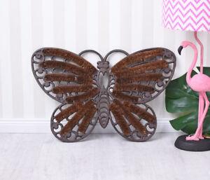 Fussmatte hierro fundido fussabtreter estilo casa de campo mariposa türmatte  </span>