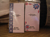 Lot Of 2 Magnetic Shopping To Do List Pads 60 Sheets Ea. - Blue Floral