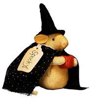 Newhalloween Mr. Warlock Spooky Mouse Primitivepumpkinfabric Best Seller