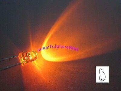 20pcs, 3mm Orange Candle Light Flicker Ultra Bright Flickering LED Leds Lamp New