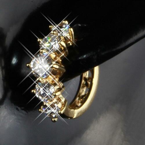 39€ O1424L Ohrringe Creolen Zirkonia Ø 14 mm 750 18Karat Gold vergoldet UVP