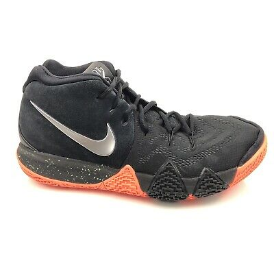 online store 9348a b433e Nike Mens Kyrie 4 Irving 943806-010 Black Silver Orange Basketball Shoes Sz  10.5 | eBay