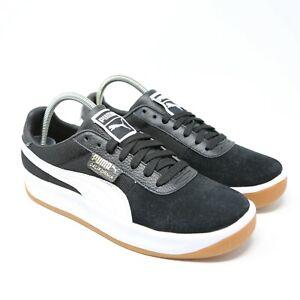 Dettagli su Puma California Tennis Scarpe Bianco Nero Gomma 366608 06 Taglie 9 Eu 42 Sneaker