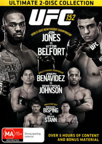 UFC 152: World Light Heavyweight Championship - Jones vs Belfort DVD BRAND NEW!