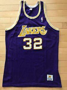 798c06dd7 Magic Johnson Los Angeles LA Lakers Sand Knit Jersey Mens sz Purple ...