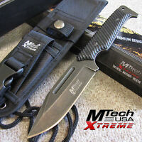 "MTech Xtreme BLACKSTONE Tactical 9 1/2"" Full Tang Combat Knife w/Molle Sheath MX"