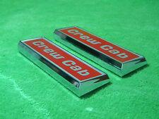 NEW 1973-1979 Ford F250 F350 Crew Cab Fender Emblem Pair L@@K CREWCAB 4 dr