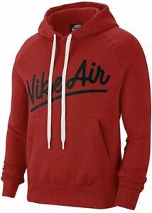 Nike-Air-Fleece-Pull-Over-Hoodie-Size-Medium-Men-s-Red-Black-CV9147-657