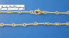"""14K Solid Yellow Gold Handmade Dogbone Chain 8.6grams 2.5mm 24"""" MED"""