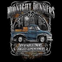 Moonshiners Moonshine Midnight Runner Old Truck 190 Proof Long Sleeve T Shirt