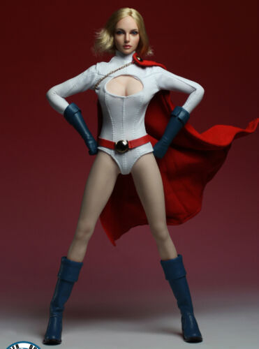 """1//6 POWER GIRL Head Sculpt Suit Set For 12/"""" PHICEN Hot Toys Female USA IN STOCK"""