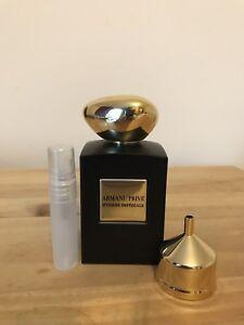 Armani Eau About Myrrhe 5ml Details De Imperiale Prive Edp Spray Parfum Sample 80OPwnk