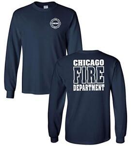 Chicago-Fire-Department-T-Shirt-TV-Show-Shirt-Double-Face-On-Duty-travail-d-039-urgence