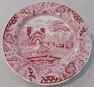Spode Archive Collection CASTLE Cranberry Red Dinner Plate Made in England