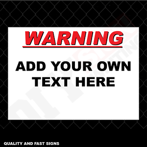 Make Your Own Text Sign Full Colour Sign Printed Heavy Duty 3997
