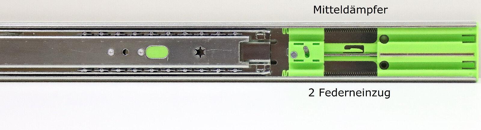 Teleskopschienen Schubladenauszüge Vollauszüge Vollauszüge Vollauszüge Softclose 45 mm 300 mm 40 kg 3d41c4