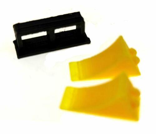 10 Unterlegkeile gelb mit Doppelhalter für Siku Farmer 1:32 und Control 32