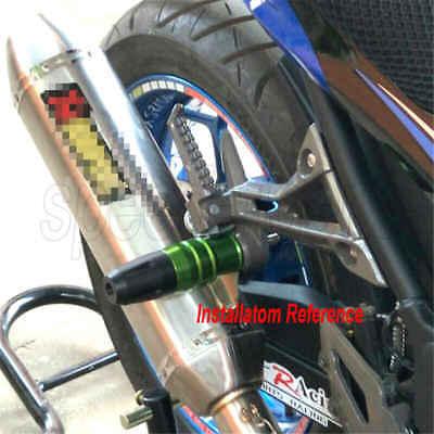 QIDIAN Motorcycle CNC Crash Pads Exhaust Sliders crash Pad Body protector protect For Kawasaki Ninja 250 Ninja 300 Z800 Red