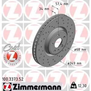 2 x Bremsscheibe Scheibenbremse ZIMMERMANN (100.3373.52)