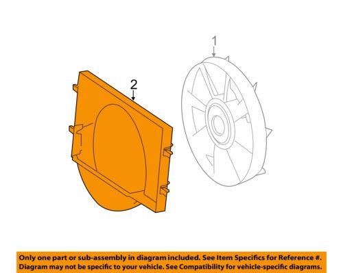 Mercedes MERCEDES-BENZ OEM Sprinter 3500 Cooling Fan-Radiator Shroud 9065050155