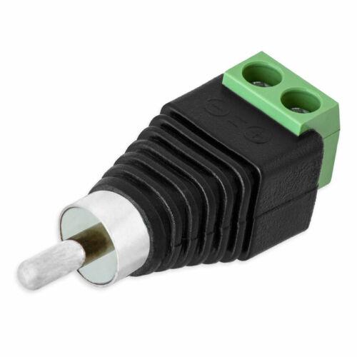 Cinch Stecker RCA Terminalblock DC Adapter Klemmen Terminal Block Cinch Buchse
