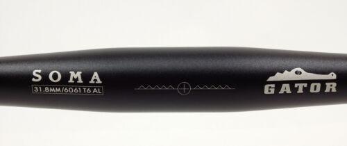 Black 31.8 SOMA Gator Bicycle Handlebar 65cm