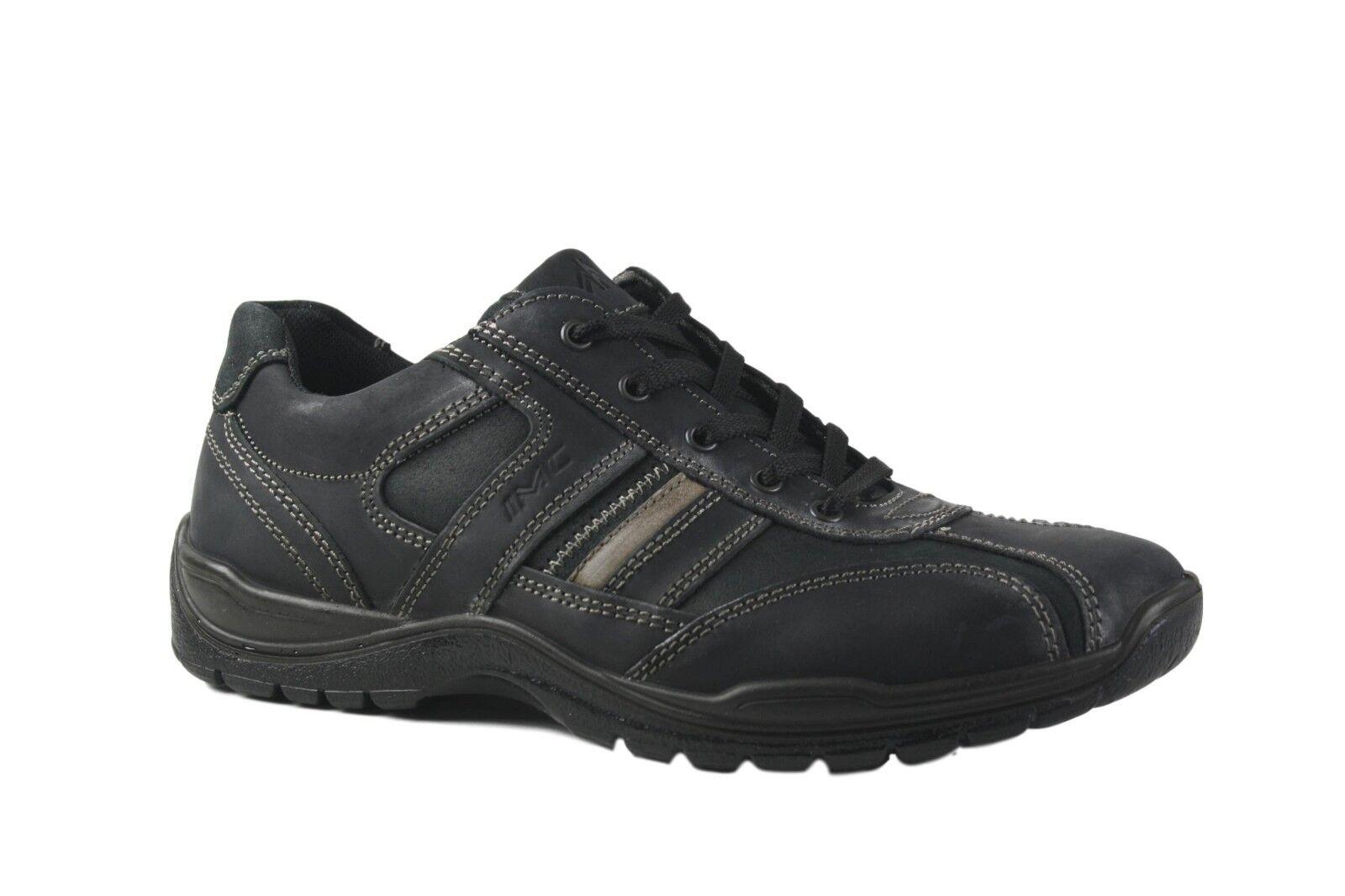 Imac Italia Negro Cuero Con Cordones Comodidad Zapato. EU40 - 43. hecho en Italia