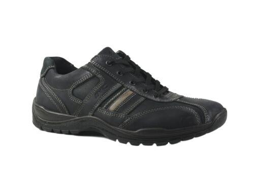 EU40-43 Imac Italia Black leather laced comfort shoe MADE IN ITALY