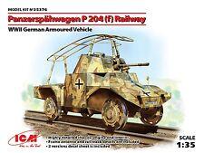 PLASTIC MODEL KIT GERMAN ARMORED CAR PANZERSPAHWAGEN P 204 F WWII 1/35 ICM 35376