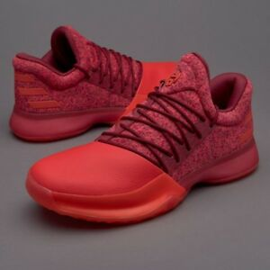 huge selection of dcf1d ee080 Image is loading Adidas-Harden-Vol-1-Glare-Red-Size-12-