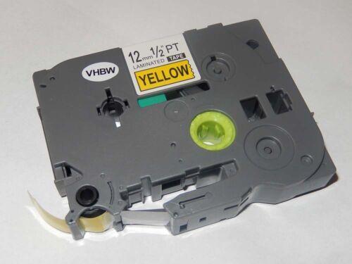 1000BTS original vhbw® Schriftband Tape 12mm S-G für BROTHER P-Touch 1000